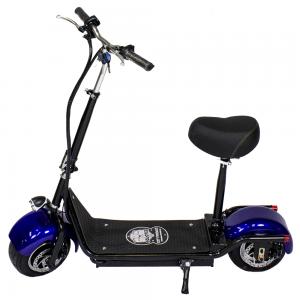 CityRoad 900W/48V/12aH/Litio Negro/Azul Gran-Scooter