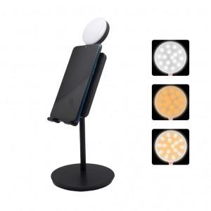 Soporte Smartphone Luz LED Negro