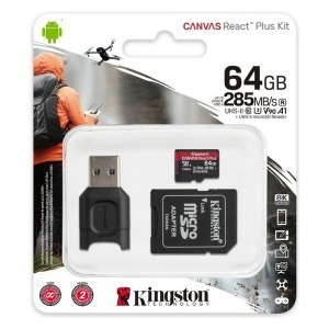 Tarjeta de Memoria Micro SD con Adaptador Kingston MLPMR2/64GB 285 MB/s