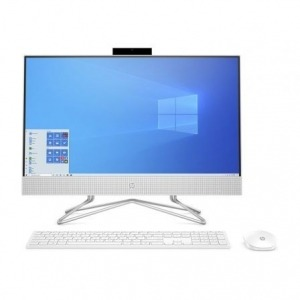 "PC ALL IN ONE HP 24-DF0043NS - I5-1035G1 1.0GHZ - 8GB - 512GB SSD PCIE NVME - 23.8""/60.4CM FHD TÁCTIL - WIFI - TEC+RATON - NO ODD - W10 - BLANCO NIEVE"