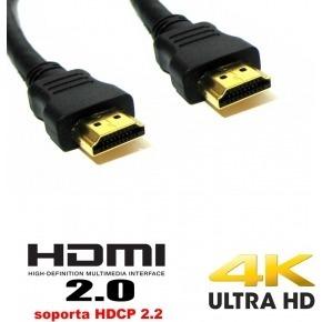 Cable HDMI negro versión 2.0 ultra HD - 17.5m