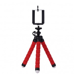 Mini Trípode Flexible Smartphone Rojo