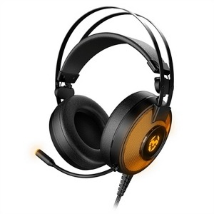 Auricular con Micrófono Gaming Krom Kayle USB Negro Naranja
