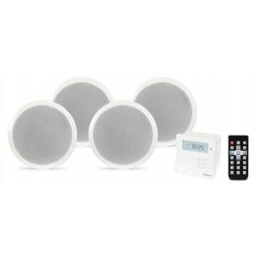 Fonestar KS-064 Amplificador de Pared y 4 Altavoces de Techo, Receptor Bluetooth