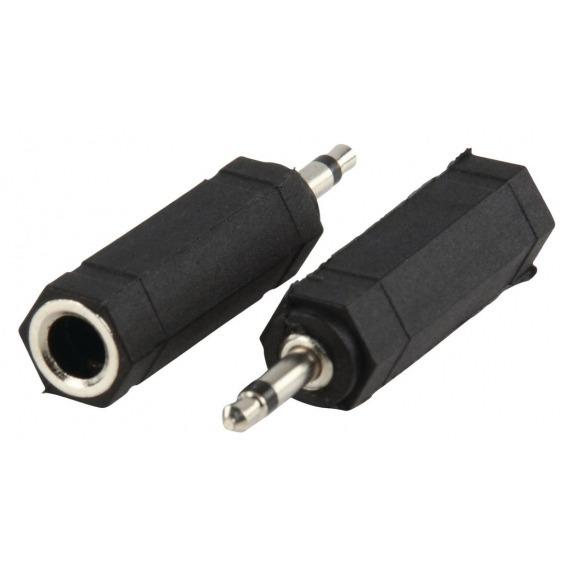 Conector Mini Jack mono 3.5mm Macho a Jack 6.35mm Mono Hembra