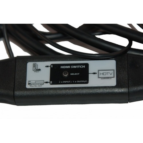 Conmutador en cable 1 x HDMI macho + 1 x MicroHDMI macho a HDMI macho