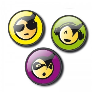 Chapas decorativas emoticons cool para mochila Roller