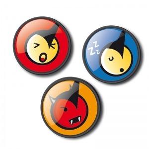 Chapas decorativas emoticons fun para mochila Roller