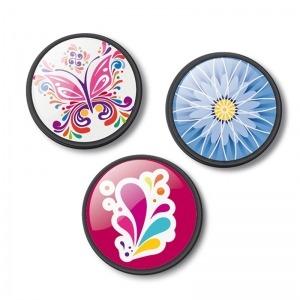 Chapas decorativas floralia para mochila Roller