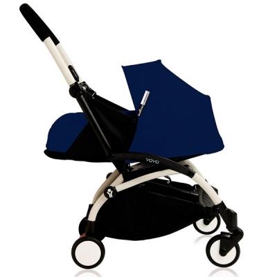 Cochecito Babyzen Yoyo 0+: Silla de Paseo YOYO+ color pack 6+ + Set recién nacido chasis blanco y tapizado Air France