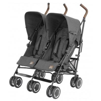 Silla de paseo gemelar Koelstra Simba Twin T4 Denim Black