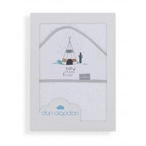 Capa de BañoDon Algodón100 x 100 Dakota Cabaña Blanca