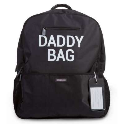 Mochila Daddy Bag negra de Childhome