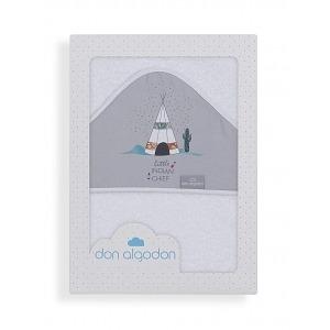 Capa de BañoDon Algodón100 x 100 Dakota Cabaña Gris