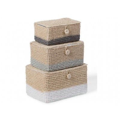 Pack 3 cajas tejidas de Childhome