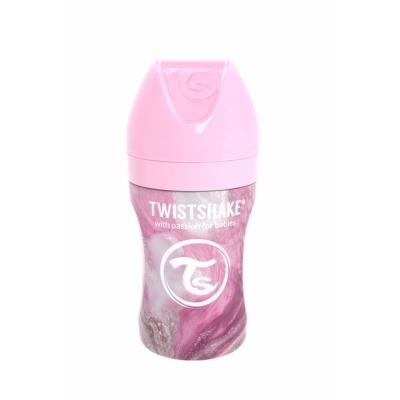 Biberón de Acero Twistshake 260 ml. Colección Mármol