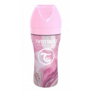 Biberón de Acero Twistshake 330 ml. Colección Mármol