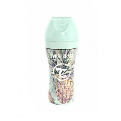 Biberón de Acero Twistshake 330 ml. Colección Tropical