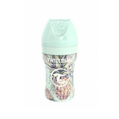 Biberón de Acero Twistshake 260 ml. Colección Tropical