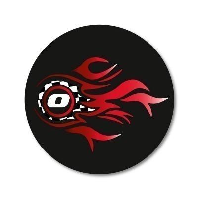 Pegatinas Wheel Stickers Fire para Ruedas de Mochila Roller