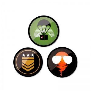 Chapas decorativas Gamer para mochila Roller