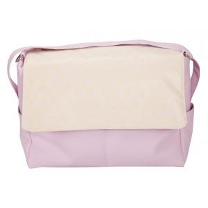 Bolso de Piel Topo Jacquard rosa