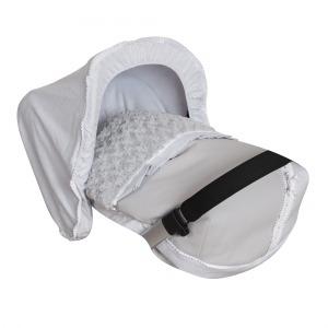 Saco Porta bebé Bombón Gris. (capota no incluida)