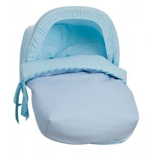 Saco Porta bebé Plumeti Celeste (capota incluida)