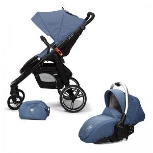 Cochecito de bebé Casualplay Loop Match 2 + Portabebés Sono + Bolso Lapis Lazuli