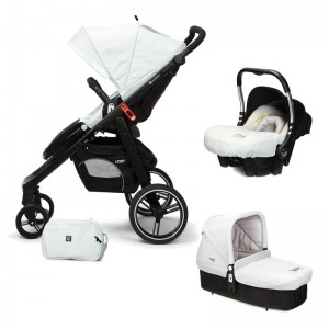 Cochecito de bebé Casualplay Loop Match 3 + Portabebés Baby 0+ + Casualplay Cot + Bolso Ice