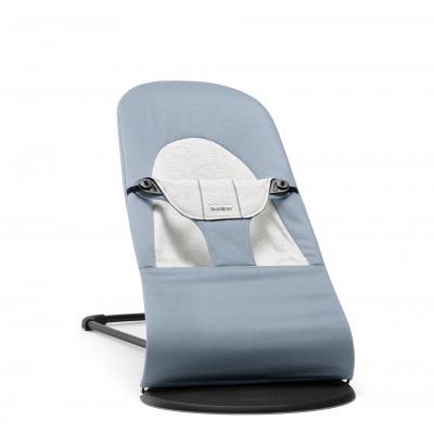 Hamaca Balance Soft Babybjorn Cotton Jersey Azul/Gris