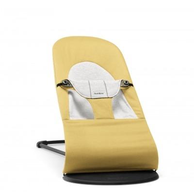 Hamaca Balance Soft Babybjorn Cotton Jersey Amarillo/Gris