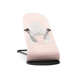 foto Hamaca Balance Soft Babybjorn Cotton Jersey Rosa Claro/Gris