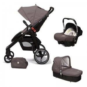 Cochecito de bebé Casualplay Loop Match 3 + Portabebés Baby 0+ + Casualplay Cot + Bolso Lava Rock