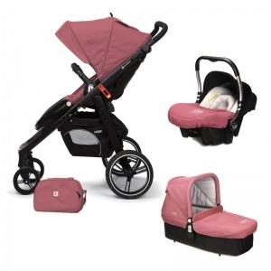 Cochecito de bebé Casualplay Loop Match 3 + Portabebés Baby 0+ + Casualplay Cot + Bolso Boreal