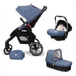 Cochecito de bebé Casualplay Loop Match 3 + Portabebés Baby 0+ + Casualplay Cot + Bolso Lapis Lazuli
