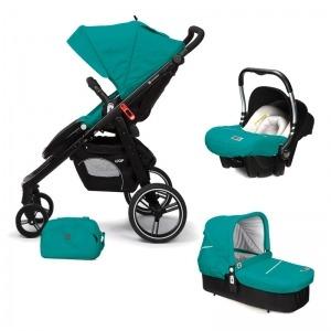 Cochecito de bebé Casualplay Loop Match 3 + Portabebés Baby 0+ + Casualplay Cot + Bolso Allport