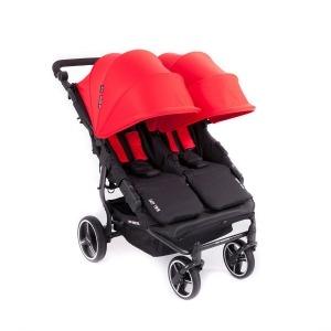 Silla de paseo Gemelar Baby Monsters Easy Twin 3.0 S negro con Pack de Accesorios