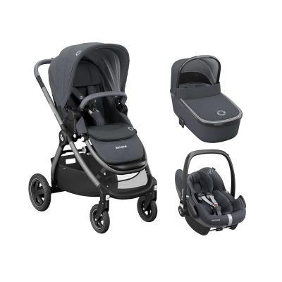 Coche de paseo trío Maxi-Cosi Adorra Essential Graphite gris oscuro