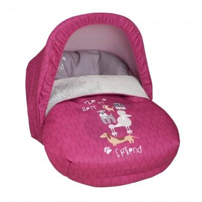 Saco Porta bebé Dogs Rosa (capota no incluida)