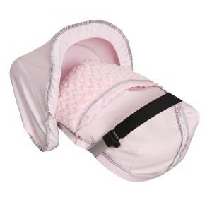 Saco Porta bebé Bombón Rosa. (capota no incluida)