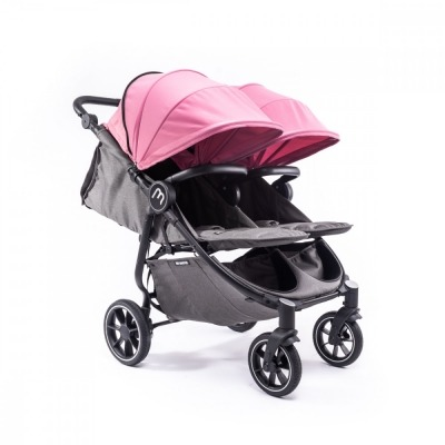 Carrito gemelar Baby Monsters Easy Twin 4 Chasis Negro y Capota