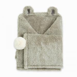 Manta Polar Tuc Tuc Hello Baby Gris