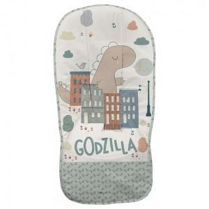 Colchoneta Dydados Recta Godzilla Liberty Dinosaurios