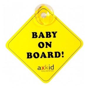 Señal de bebe a bordo de Axkid con ventosa