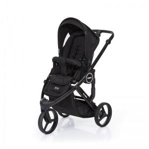 Silla de paseo Abc Design Cobra Plus Chasis Negro Asiento Negro Black + Burbuja + Manoplas