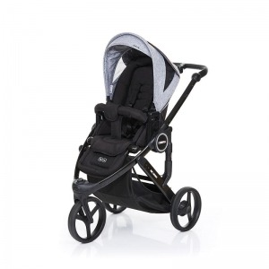 Silla de paseo Abc Design Cobra Plus Chasis Negro Asiento Negro Graphite Grey + Burbuja + Manoplas