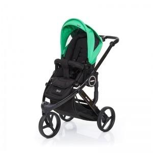 Silla de paseo Abc Design Cobra Plus Chasis Negro Asiento Negro Grass + Burbuja + Manoplas