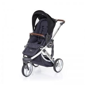 Silla de paseo Abc Design Cobra Plus Chasis Plata Asiento Street Black + Burbuja + Manoplas