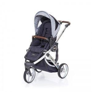 Silla de paseo Abc Design Cobra Plus Chasis Plata Asiento Street Graphite Grey + Burbuja + Manoplas